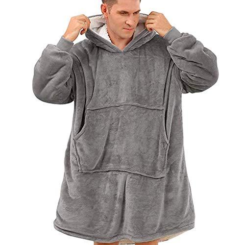 Wangy Sudadera con capucha, de gran tamaño, súper suave, cálida, cómoda con capucha gigante, apta para hombres, mujeres y adolescentes.