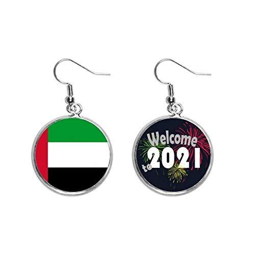 Emiratos Árabes Unidos Bandera Nacional Asia País Oído Colgantes Pendientes Joyería 2021 Bendición