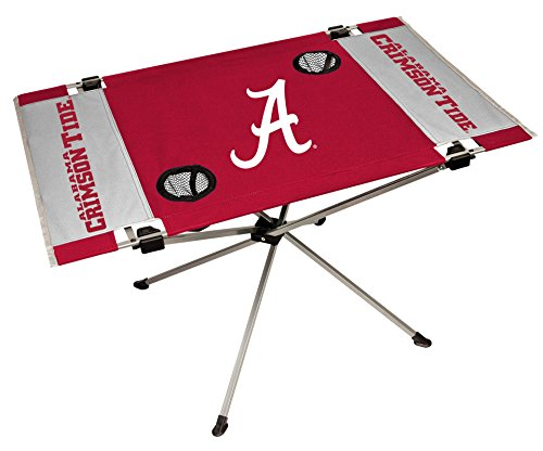 NCAA Portable Folding Endzone Table, 31.5 in x 20.7 in x 19 in, Alabama Crimson Tide