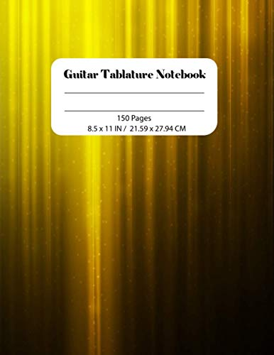 Guitar Tablature Notebook: guitar music books Notebook | 8.5 X 11 - 110 Pages