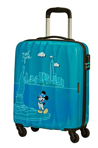 American Tourister Disney Legends - Spinner S Handgepäck, 55 cm, 36 L, Türkis (Take Me Away Mickey Nyc)