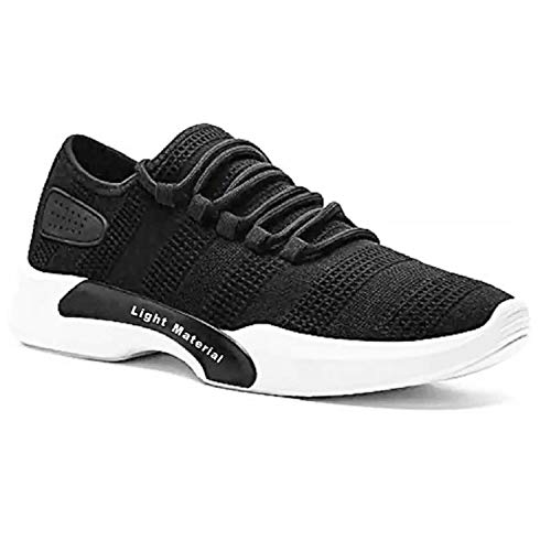 Birde Men Black Canvas Sports Shoes - UK 8