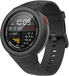 Amazfit Verge Fitness Smartwatch by Huami with GPS Plus GLONASS All-Day Heart Rate and Activity Tracking, Sleep Monitoring, 5-Day Battery Life, Bluetooth, IP68 Waterproof (Grey)