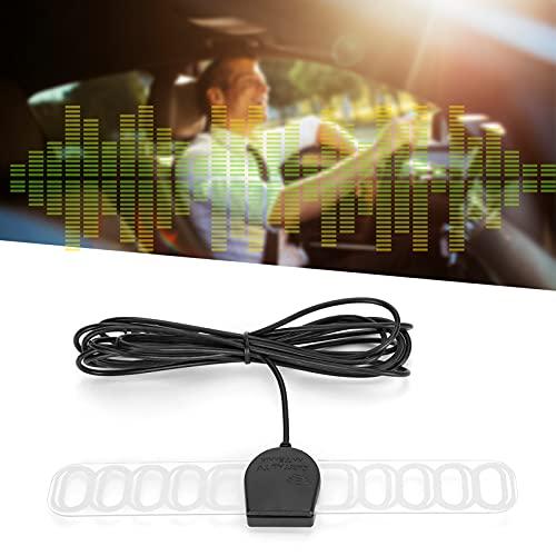 Antena de coche, antena de radio FM estéreo para coche, parabrisas oculto de 3 metros, fácil de usar para TV de vehículo, reproductor de receptor multimedia
