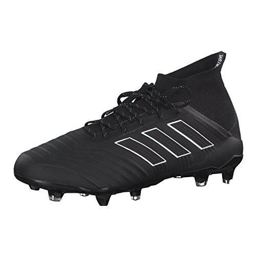 Adidas Predator 18.1 FG, Botas de fútbol para Hombre, Negro (Negbás/Ftwbla 000), 42 EU
