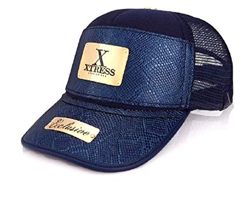Xtress Exclusive Gorra de diseño de color azul para hombre y mujer.
