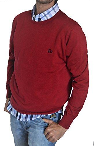 Ridebike Jersey de Cuello Redondo Vespa   Color Burdeos   100% algodón   Custom fit (152)