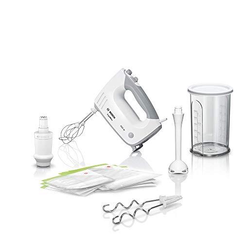 Bosch MFQ364V0 Handrührer Ergomixx, Vakuum-System, 450 W, Vakuum-Pumpe, -Beutel und -Boxen, Mixstab, weiß