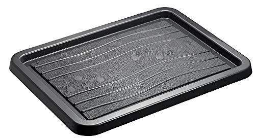 Rotho Snow & Rain Schuhablage, Kunststoff (PP) BPA-frei, schwarz, (51,0 x 39,0 x 2,0 cm)