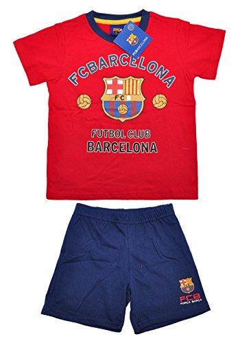 Pijama de manga corta 100% oficial del FC Barcelona para niños |...