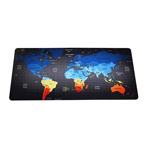 HonGHUAHUI nieuwe geblokkeerde rand bureaumat grote muismat voor toetsenbord mat 900x400x2MM A08