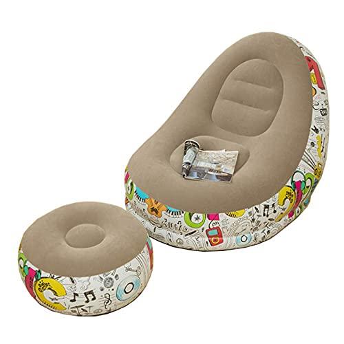 Sofa Inchables, Sillon Hinchable Respetuosas con La Piel Y Respetuosas con El Medio Ambiente, Sofá Cama Inflable con ReposapiéS, Sala De Estar, Dormitorio,Gris,45.6''×38.5''×32.6''