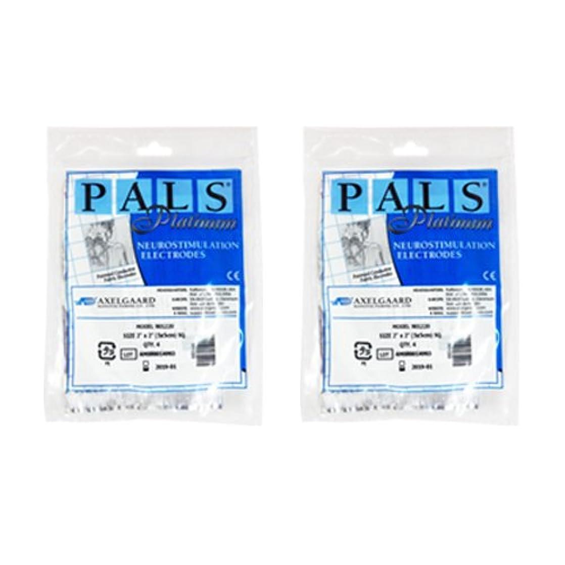 矩形細い紛争敏感肌用アクセルガード ブルー Mサイズ × 2セット 【EMS用粘着パッド】
