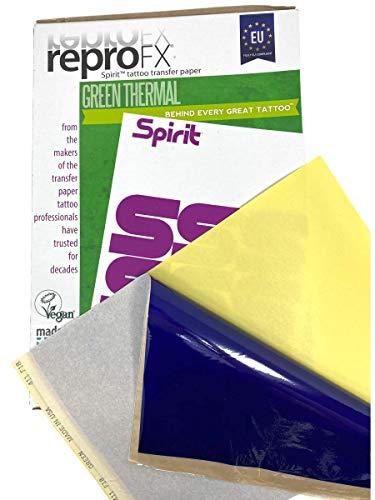 Tatouage Thermo papier Matrice UE Spirit Vert 5stück - inkgrafix ALLEMAGNE - PROFESSIONNEL STUDIO ig05519 timbre papier imprimer