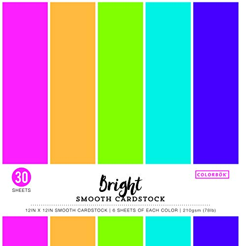 """ColorBok 61308C Smooth Cardstock Paper Pad Bright, 12"""" x 12"""""""