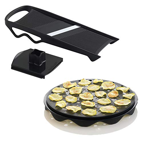 Mastrad Chipsmaker Set - Chipkocher + Mandolinen-Kit - Für leckere und gesunde Chips im Handumdrehen - Spülmaschinenfest
