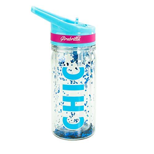Girabrilla Eco Botella con Glitter-Chic 350 ml-Nice Group 02531C