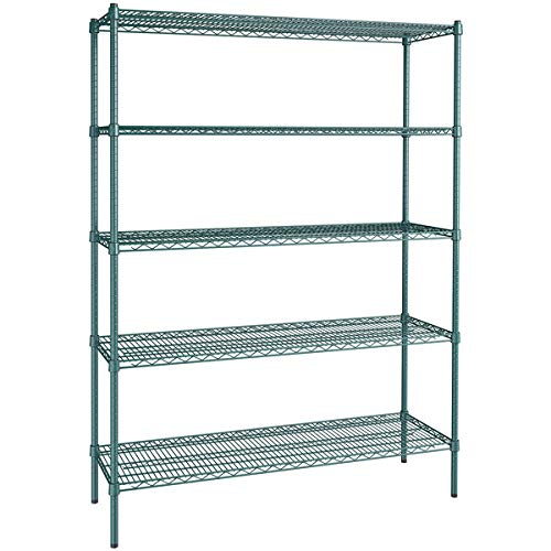 18 inch x 54 inch Green Epoxy 5 Shelf Kit with 74 inch Posts. Storage Shelf. Garage Storage Shelves. Shelving Units and Storage. Food Storage Shelf. Storage Rack. Kitchen Shelves. Bakers Racks