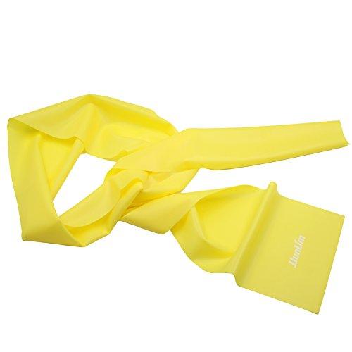 JJunLiM 1,5 Metri in Lattice Fitness Resistenza Bande Elastiche Fasce Elastiche Fascia di Allenamento per Pilates Yoga, Allenamento Palestra Crossfit o Riabilitazione (1.5m Yellow)
