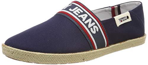 Hilfiger Denim Tommy Jeans Stripe Summer Shoe, Zapatos de Cordones Oxford para Hombre, Bleu, 45 EU