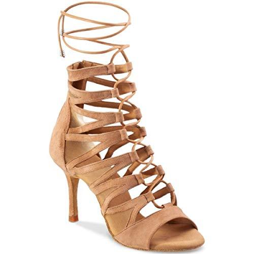 Rummos Mujeres Zapatos de Baile Bachata 02 122 - Material: Nobuk - Color: Twine - Anchura: Normal - Tacón: 80E Stiletto - Talla: EUR 38,5