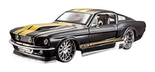 Maisto AllStars Ford Mustang: Originalgetreues Modellauto mit Türen und Motorhaube zum Öffnen,Maßstab 1:24, Fertigmodell, 20 cm, Farbe/Design kann variieren (531094)