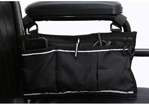 Silla de ruedas y accesorios Bolsa Apoyabrazos Walker bolso lateral de silla de ruedas - Mochila con silla de ruedas bolsa con cinta adhesiva reflectante - Ligero Paquete de Movilidad, Transporte y Vi