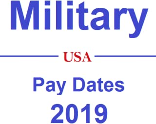 Military - Pay Dates 2019
