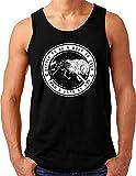 OM3® Wolf of Odin Tank Top Shirt | Herren | Runen Vikings Wolves Wikinger Nordic Warrior | Schwarz, 4XL