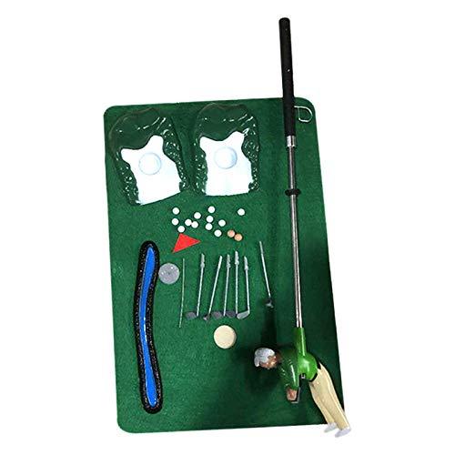Taloit Scucs Minigolf Set, Golfspiel-Set, Golf Set, Golfschläger, Mini Indoor Golf Player Pack Eltern-Kinder-Interaktionsspielzeug, Minigolf Spielset mit einem kleinen Kerl am Golfclub
