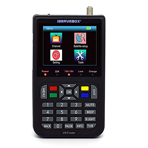 Satellite Signal Finder - V9 HD Sat measuring devices with satellite recognition DVB-S   S2   for the exact adjustment of your Sat antenna Support H.265