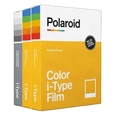 Polaroid Originals I-Type Core-Film, 3er-Pack (2Farbfilme, 1 Schwarz-Weiß-Film) + Gratis Wandalbum