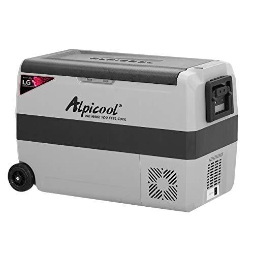 Alpicool T50 Car Fridge Freezer 50L Portable Car Refrigerator 12V 24V Electric Cooler for Camping,...