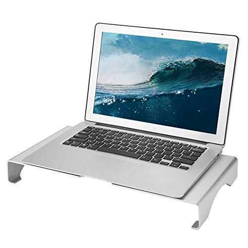 Laptopstandaard, Aluminiumlegering Monitor Notebook Riser Opslagruimtehouder, Beknopte Stijl Computerscherm Ondersteuning Stentsvoor uw Bureau Comfortabel, Plaats Toetsenbord en Muis