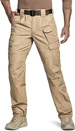 CQR Men's Tactical Pants, Water Repellent Ripstop Cargo Pants, Lightweight EDC Hiking Work Pants, Outdoor Apparel, Duratex Mag Pocket(tlp105) - Navy, 20W x 20L