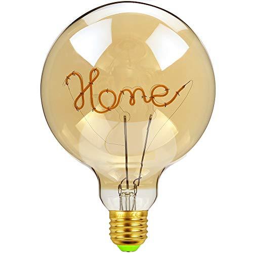 TIANFAN Vintage LED-Leuchtmittel, 4 W, dimmbar, Love/Home Buchstabe, 220 / 240 V, E27 Tischlampe, glas, Home, E27, 4.00W 240.00V
