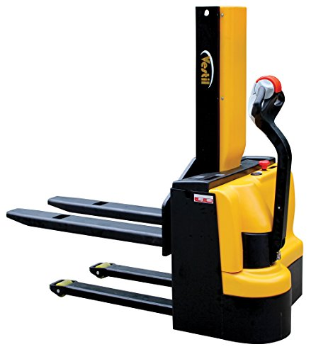 Vestil SNM3-43-FF-27 Steel Stacker Power Lift, Fixed 27 Fork, 3000 lb. Capacity, 69