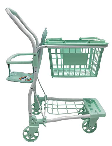 Roma Rupert Toy Shopping Trolley Suitable from 24 months - mint Roma The Rupert shopping trolley measures 62cm from the floor to the handle. Removable Shopping basket Available in primrose or mint - Unique Rainbow Design 6