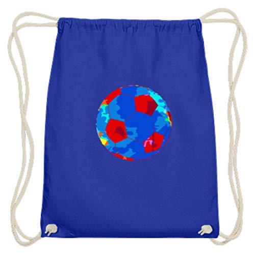Gymsac - Pelota de algodón con diseño de balón de fútbol, color, talla 37cm-46cm