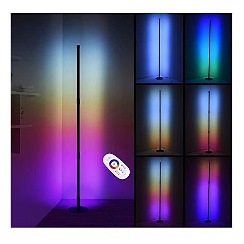 Lámpara De Pie De Esquina De Pared LED, LEDs Lámpara De Pie Con Lámpara De Esquina RGB Que Cambia De Color, Regulable Y Con Memoria, Sala De Estar, Sofá, Dormitorio, Atmósfera De Noche, Lámpara De Pie