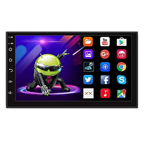 Dr.Lefran Radio de Coche Universal Android 2 DIN 7',Reproductor Multimedia Bluetooth Navegación GPS Coche Estéreo Espejo Enlace FM WiFi Unidad Principal,1g+16g