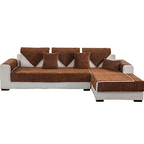 YUTJK Fundas de Almohada cuadradas Funda de sofá, Suaves para el sofá, el Dormitorio y el Coche,Cojín de sofá de Felpa con patrón de guijarros,Vendido en Pedazos,marrón