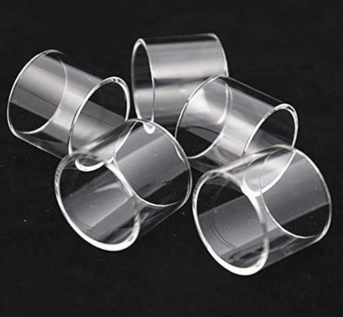 Qingtian-ceg 5pcs sustitución de la Grasa de Cristal Tanque/Recto de Cristal Aptos for la GeekVape Zeus X RTA 4,5 ml Tubo de Burbuja de Cristal de Grasa (Color : FIT FOR Zeus X 3.5ml Straig)