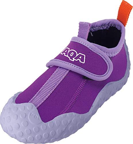AQA(エーキューエー) マリンスポーツ ジュニア スノーケリングシューズ パープル 21cm KW-4473N