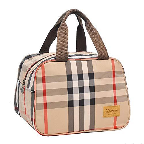 yuery Lonchera bolsa de mano aislada de aluminio grueso bolsa de almuerzo bolsa de almuerzo bolsa lavable con bolsa de arroz mujer grande oficina trabajador comida bolsa A