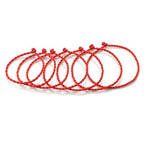 Pulsera 2~10 unids Pulsera Trenzada de Cuerda roja Mujeres Afortunado joyería Hecha a Mano Tejida Encanto Pulseras Ajustable Moda Pareja Amigos Regalos Moda (Length : 18cm, Metal Color : 10pcs)