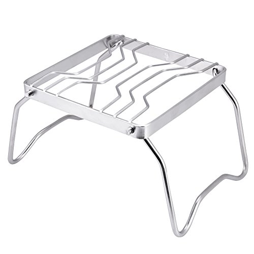 JIUA Stainless Steel Folding Grill Camp Fire Bracket For Outdoor Camping Mountain Picnic Travelling Picnic BBQ