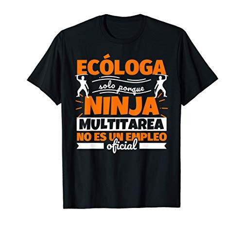 Ecóloga regalo divertido ninja Camiseta