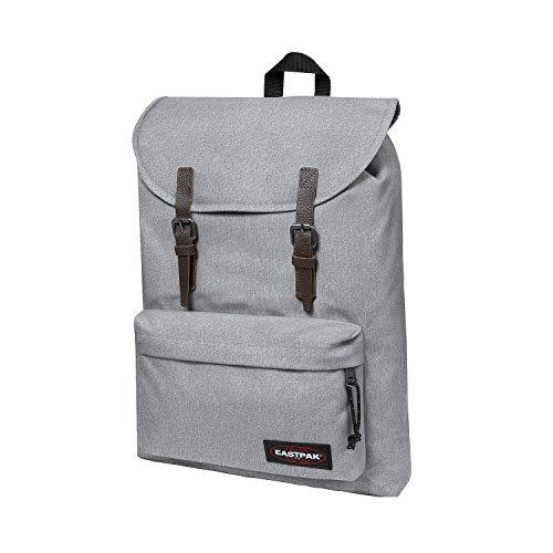 Eastpak London Rucksack für Laptops und Netbooks (grau, einfarbig, Nylon, Fronttasche, Kordelzug)