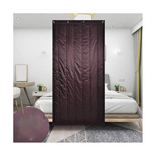 GGYMEI- Wärmeschutzvorhang, Schattierung Wärme Und Wasserdicht Geeignet for Krankenhäuser Schulen Lernräume Oxford-Stoff, 10 Größen (Color : Brown, Size : 80x200cm)